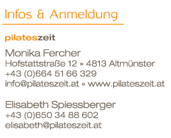 pilateszeit.at Monika Fercher Pilates Altmünster Gmunden